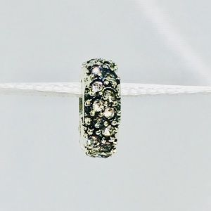 Jewelry - Shiny Spacer Charm   Crystal Clear Stones  